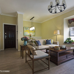 三居室混搭风格客厅吊顶装修效果图大全