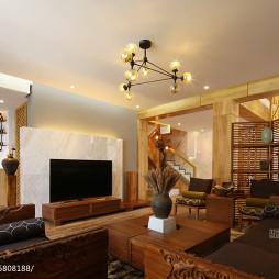 现代客厅别墅灯具图片