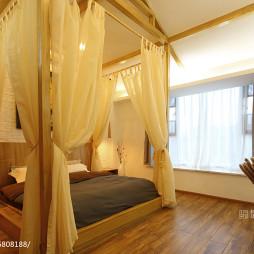 现代卧室床帘装修设计