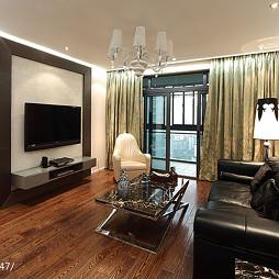 温馨现代客厅电视背景墙设计