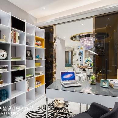 现代书房整体壁柜家居设计