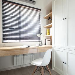 北欧风格书房组合柜装修设计