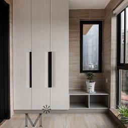 新中式阳台壁柜装修设计