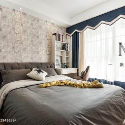 138m²现代简约卧室窗帘效果图