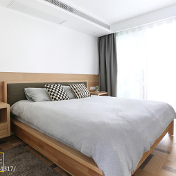 现代简约风卧室落地窗设计