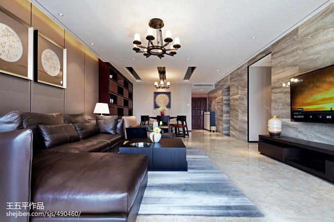 現代中式住宅客廳裝修效果圖