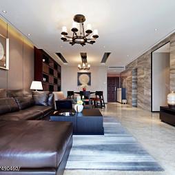 现代中式住宅客厅装修效果图