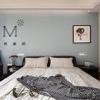 现代卧室背景墙装修图