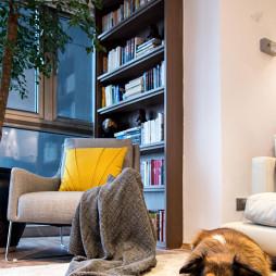 现代阳台书柜设计