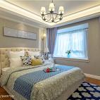 美式卧室飘窗装修图