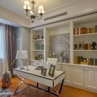 美式书房书柜装修设计