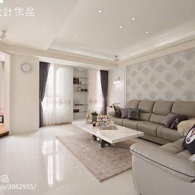 二居室现代客厅背景墙装修图片