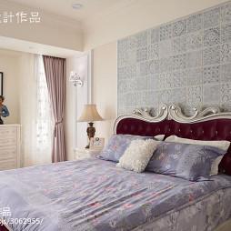 二居室现代卧室窗帘效果图