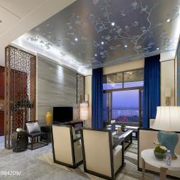 中式客厅吊顶设计案例效果图