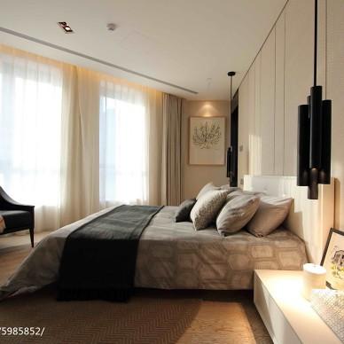 公寓样板房现代卧室装修图片