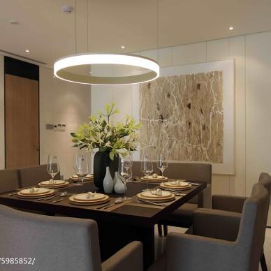 现代公寓餐厅样板房设计