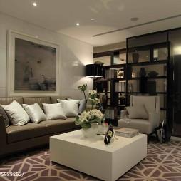 现代公寓休闲区博古架样板房设计