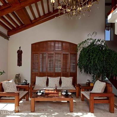 私人别墅东南亚客厅隔断设计