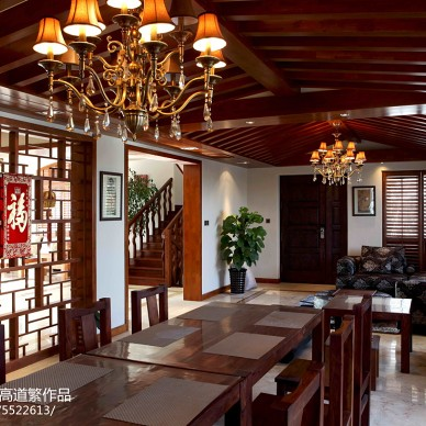 私人别墅东南亚餐厅隔断装修图片