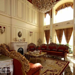 法式浪漫客厅装修设计