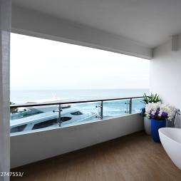 现代阳台公寓样板房图片