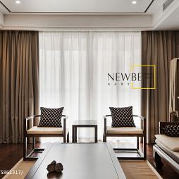 中式窗台窗帘图片