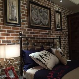星河湾混搭卧室背景墙设计