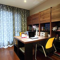 现代书房窗帘装修图片