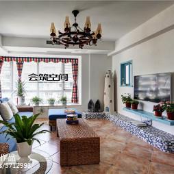 地中海复式户型客厅装修图片