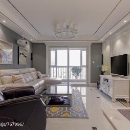 欧式三居室客厅装修效果图