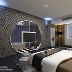 主题酒店客房背景墙装修图