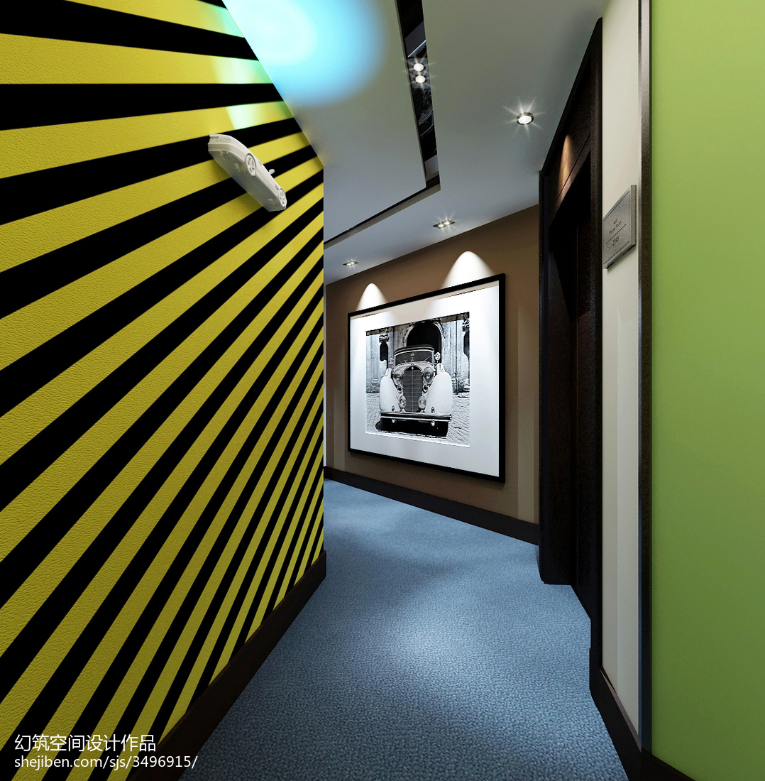 主题酒店走廊设计图片
