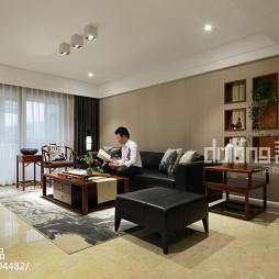 中式风格装修客厅吊顶效果图