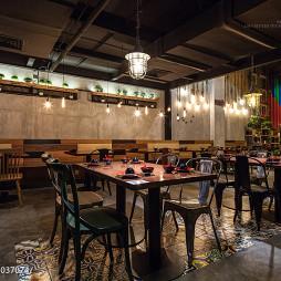 中式古典设计餐厅效果图
