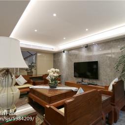 中式设计风格客厅效果图