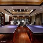 美式会所二楼乒乓球室效果图