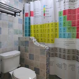 88㎡美式衛生間裝修浴簾裝修效果圖