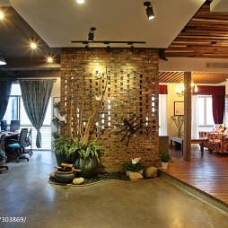 混搭风格办公室隔断墙设计