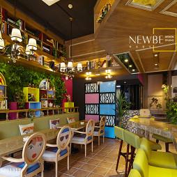 艳丽的咖啡厅设计