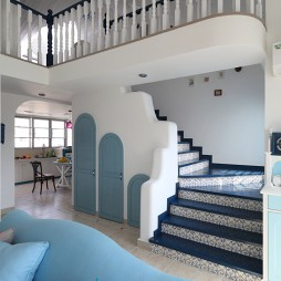 地中海复式楼梯设计