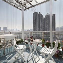复式地中海阳台花园设计