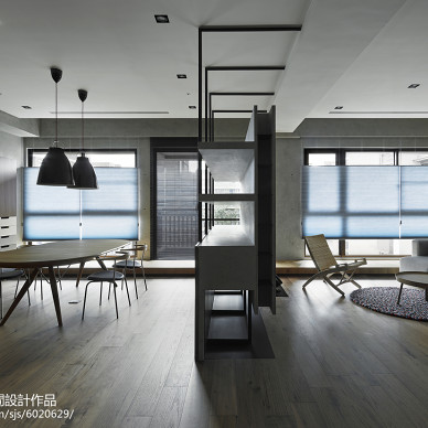现代简约风格餐厅隔断设计