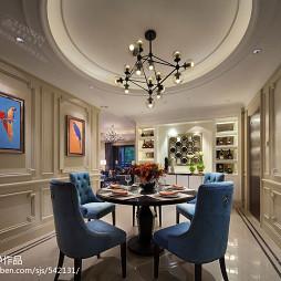 浪漫欧式风格餐厅样板房设计