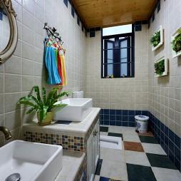 美式简洁卫生间装修图片