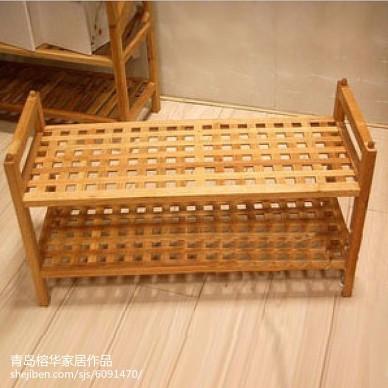 网格防尘鞋架浴室实木置物架可拆装_2215726