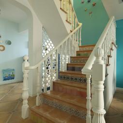 地中海风格楼梯装修图片大全欣赏