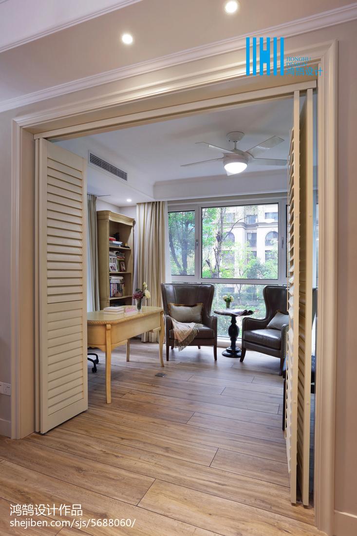 生活资讯_190㎡美式混搭书房折叠门装修图片 – 设计本装修效果图