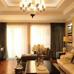 美式格调客厅装饰图