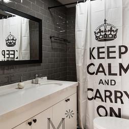 北歐風格衛生間浴簾裝修圖片