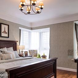 现代美式卧室窗户装修设计